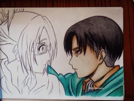 Hanji and Levi by DoreiShounen