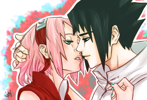 Kiss (Sasusaku) by rizmance