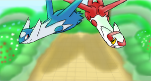 Latias and Latios by RamenXfox