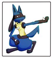 It's Lucario... I think. by LunaticDuplicate