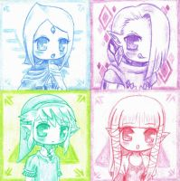 Skyward sword chibi colors by ZantsDinner
