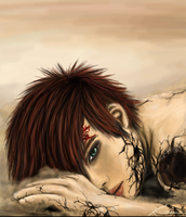 CG Gaara :Shattered Defeat by KenXVII