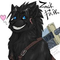 Zack Fair Wolf: commission by SadWhiteRaven