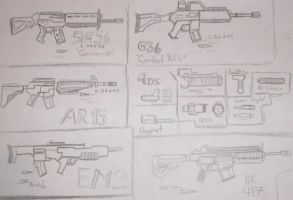 Weapon Set 2 :ARs: by Ivan102