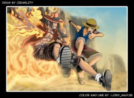Ace and Luffy by Lord-Nadjib