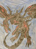 Red eyes Darkness Dragon by Darkshadowarts