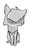 New style AGAIN lineart greyscaled(like an idiot) by Frozen-x-Rain