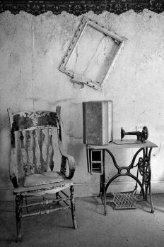 Sewing Machine and Chair by enunez