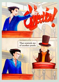 Wright vs Layton by lilythescorpio