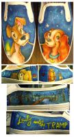 Lady and the Tramp Shoes by someorangegirl