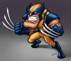 Angry wolvie by LOLONGX