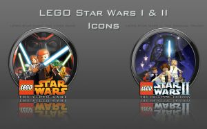 LEGO Star Wars I And II Icons by zahnib