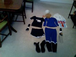 Sheik cosplay in pieces by Rora-at-Dawn