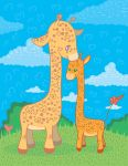Giraffes Love by jkBunny