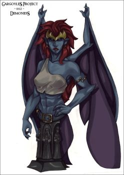Demona Bust Control Art by vp1940