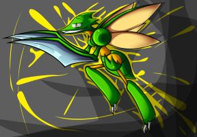 Scyther by GreedForGreen