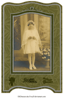 1929 Vintage Photo and Frame 1st Communion by EveyD