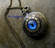 Nobility's Time - Dragon Eye Pocket Watch by LadyPirotessa