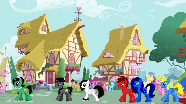 Regular Day in Ponyville with Epic Fable w/ gang by ZMasterskull