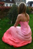 Pink dress stock 26 by Malleni-Stock