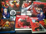 Hellsing Manga and DVD by kaitlynrager
