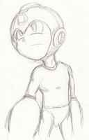 Megaman Sketch by StaticBlu