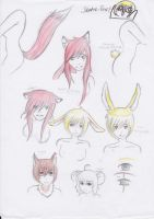 Fuchs/Hase preview/coloured sketches by acryl-no-akasuna