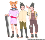 Shikamaru, Temari and Shikadai by fvckfdaname