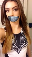 Hottie tape gagged 2 by username911