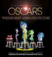 Inside Out The Oscars - Winner Best Animated Film by GiantessStudios101