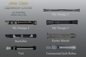 Star Wars Lightsaber Hilts by Housuh