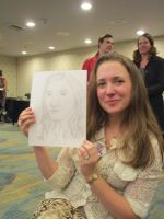 Alyssa Kay Holding Quick Drawing by Poorartman
