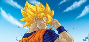 Good Bye Goku Colors by fireforgegrafx