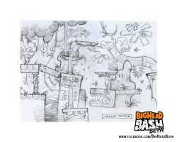 Jungle Map Concept Art by SpicyHorseOfficial