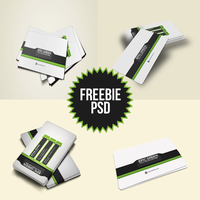 Freebie Corporate Business Card PSD Template by mehranchy