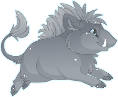 Chibi Boar by MBPanther