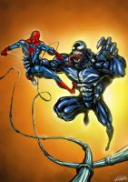 Spiderman Vs Venom by JoseManuelSerrano
