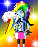 Equestria Girls Rainbow Dash by dsargentX