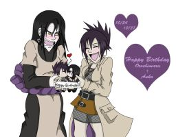 Happy BDay Orochimaru and Anko by AngelQueen13
