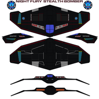 NIGHT FURY Stealth Bomber by bagera3005