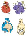 Pokemon: Buff Anthro Doodles 3 by CaseyLJones