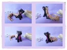 Dragon black and pearl by Siachi