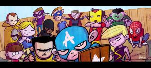 AVENGERS kids by ferwar