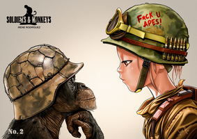SOLDIERS and MONKEYS No2 by Irene-Rodriguez