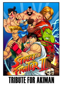 street fighter 2 Tribute for Akiman by Shayeragal