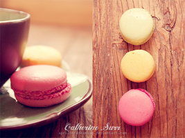 Coffee and Macaroons by apricot-dreaming