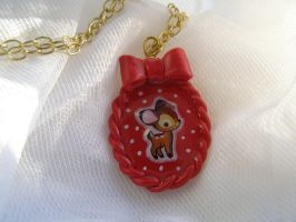 bambi necklace by LaManish