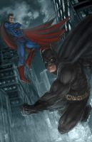 A Dark Knight and a Man of Steel by W-E-Z