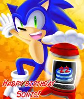 Happy 22nd B-day Sonic x3 by Sonicbandicoot
