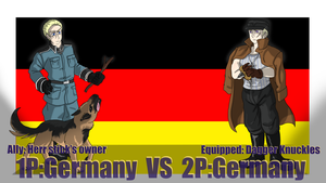 Hetalia Fight: 1PGermany vs 2PGermany by Sagealina